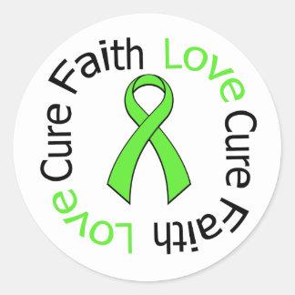 Lymphoma Faith Love Cure Stickers