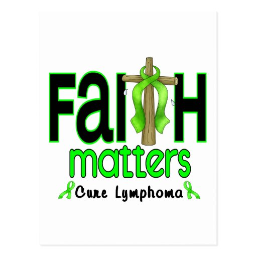 Lymphoma Faith Matters Cross 1 Postcard