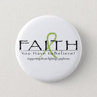 Lymphoma faith-ribbon button