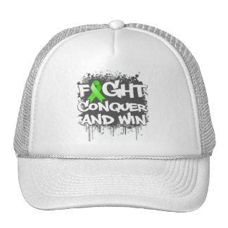 Lymphoma Fight Conquer and Win Mesh Hat