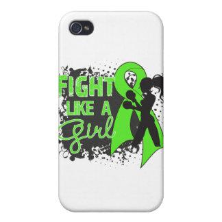 Lymphoma Fight Like A Girl Grunge iPhone 4 Case