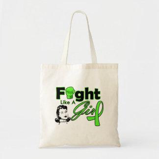 Lymphoma Fight Like A Girl - Retro Girl Budget Tote Bag