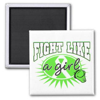 Lymphoma Fight Like A Girl Sporty Callout Fridge Magnet