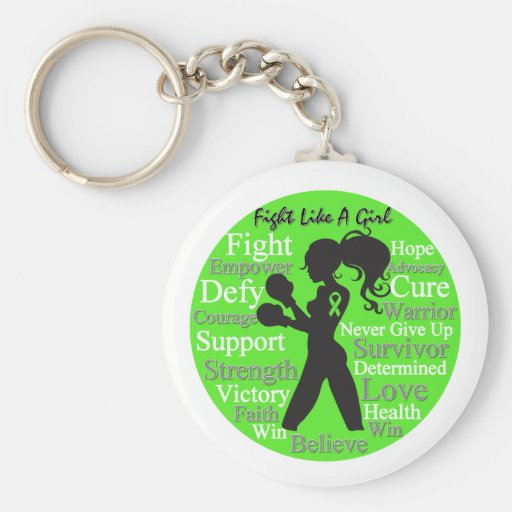 Lymphoma Fight Like A Girl Warrior Collage Key Chain