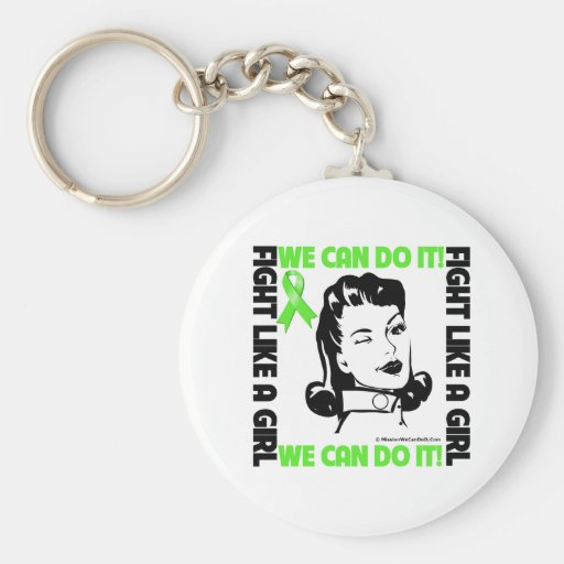 Lymphoma - Fight Like A Girl - We Can Do It Key Chains