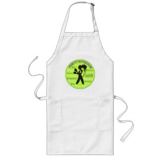 Lymphoma Fight Strong Motto Collage Long Apron