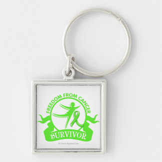 Lymphoma - Freedom From Cancer Survivor.png Silver-Colored Square Keychain