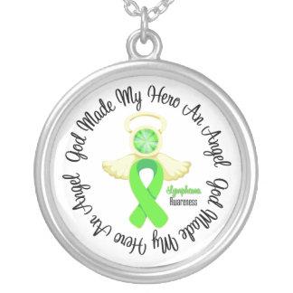 Lymphoma God Made My Hero An Angel Round Pendant Necklace
