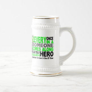 Lymphoma HERO COMES ALONG 1 Brother-In-Law Beer Stein