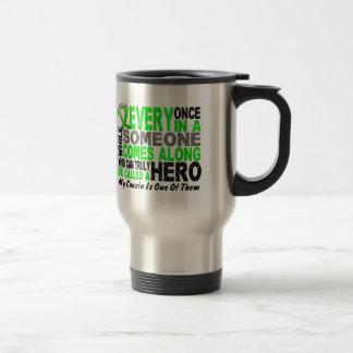 Lymphoma HERO COMES ALONG Cousin Travel Mug