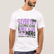 Lymphoma Hodgkin's HERO COMES ALONG 1 Daughter T-Shirt