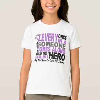 Lymphoma Hodgkin's HERO COMES ALONG 1 Father T-Shirt