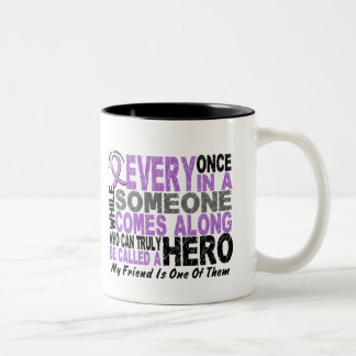 Lymphoma Hodgkin's HERO COMES ALONG 1 Friend Two-Tone Coffee Mug