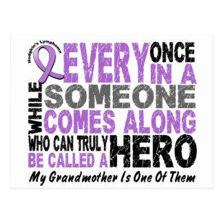 Lymphoma Hodgkin's HERO COMES ALONG 1 Grandmother Postcard