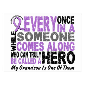 Lymphoma Hodgkin's HERO COMES ALONG 1 Grandson Postcard