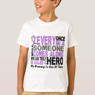 Lymphoma Hodgkin's HERO COMES ALONG 1 Mommy T-Shirt