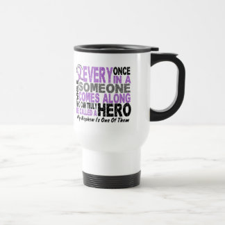 Lymphoma Hodgkin's HERO COMES ALONG 1 Nephew Travel Mug
