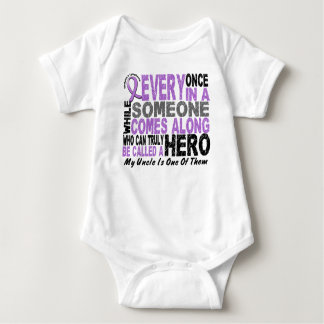Lymphoma Hodgkin's HERO COMES ALONG 1 Uncle Baby Bodysuit