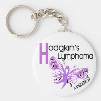 Lymphoma Hodgkins BUTTERFLY 3.1 Basic Round Button Keychain