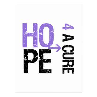 Lymphoma Hodgkin's HOPE FOR A CURE Postcard