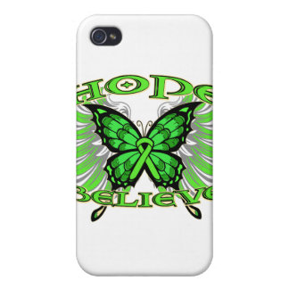 Lymphoma Hope Believe Butterfly Case For iPhone 4