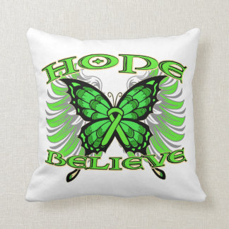 Lymphoma Hope Believe Butterfly Pillow