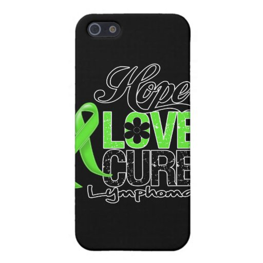 Lymphoma Hope Love Cure iPhone 5 Covers
