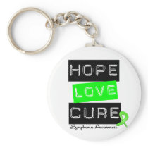 Lymphoma Hope Love Cure Keychain