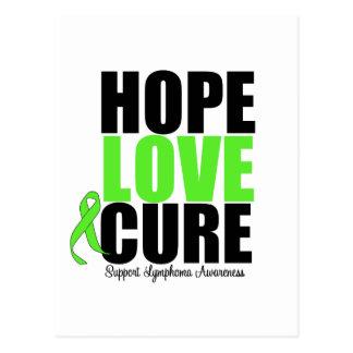 Lymphoma Hope Love Cure Postcard