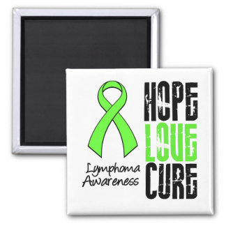 Lymphoma Hope Love Cure Ribbon Magnet