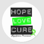 Lymphoma Hope Love Cure Stickers