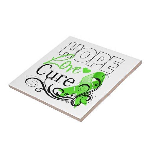 Lymphoma Hope Love Cure Tile