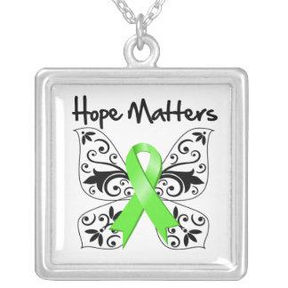 Lymphoma Hope Matters Square Pendant Necklace