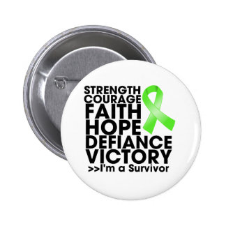 Lymphoma Hope Strength Victory Pinback Button