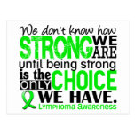 Lymphoma How Strong We Are Postcard