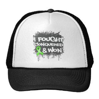 Lymphoma I Fought Conquered Won Mesh Hats