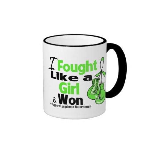 Lymphoma I Fought Like a Girl and Won Mugs