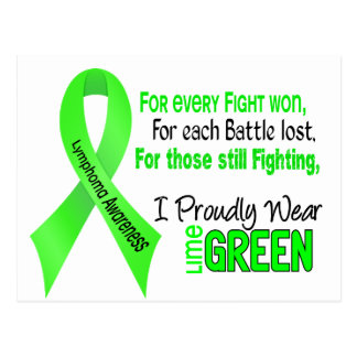 Lymphoma I Proudly Wear Lime Green 1 Postcard