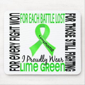 Lymphoma I Proudly Wear Lime Green 2 Mouse Pad