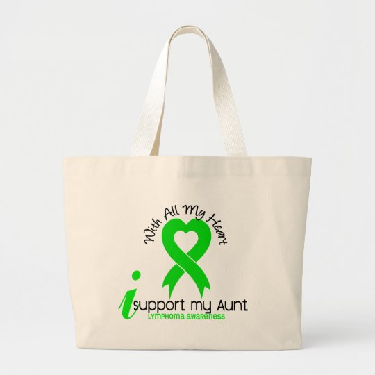 LYMPHOMA I Support My Aunt Large Tote Bag