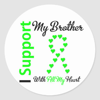 Lymphoma I Support My Brother Round Stickers