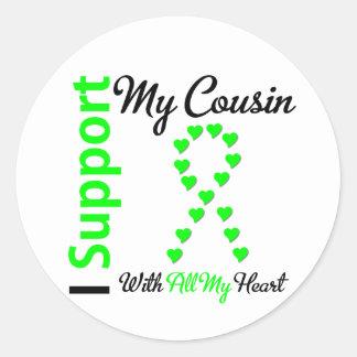 Lymphoma I Support My Cousin Sticker