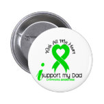LYMPHOMA I Support My Dad 2 Inch Round Button