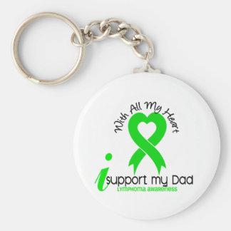 LYMPHOMA I Support My Dad Basic Round Button Keychain
