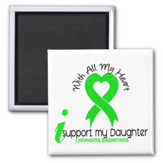 LYMPHOMA I Support My Daughter 2 Inch Square Magnet