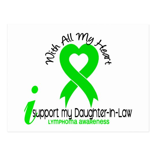 LYMPHOMA I Support My Daughter-In-Law Postcard