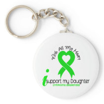 LYMPHOMA I Support My Daughter Keychain