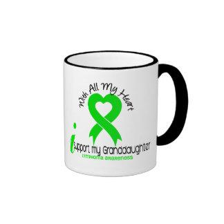 LYMPHOMA I Support My Granddaughter Ringer Mug