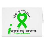 LYMPHOMA I Support My Grandma Greeting Card