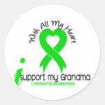 LYMPHOMA I Support My Grandma Stickers